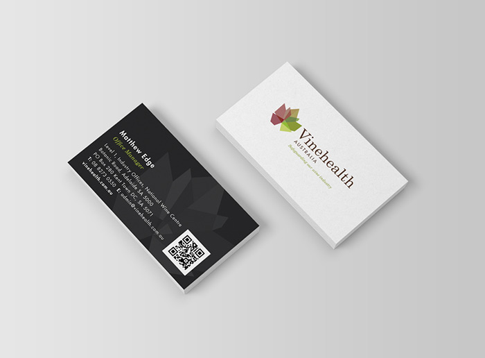Graphic Design - Vinehealth Australia Business Card