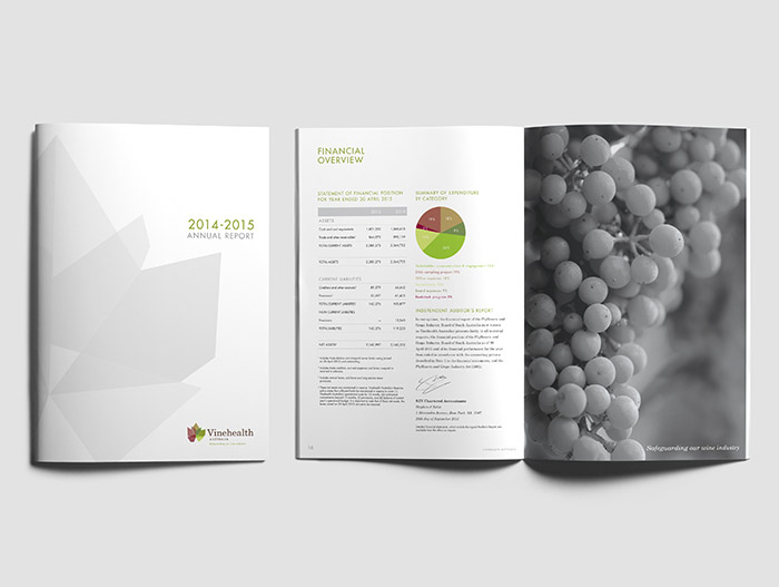 Graphic Design - Vinehealth Australia Annual Report