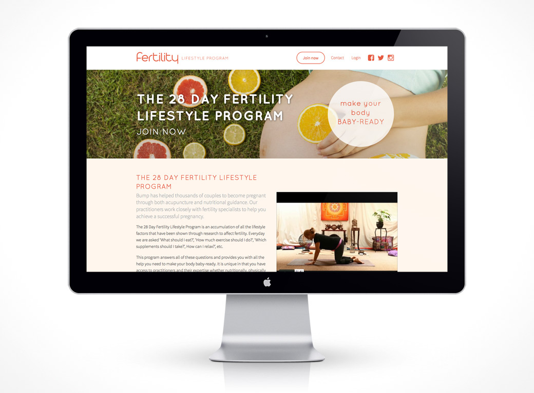 Web Design - Fertility Lifestyle Program